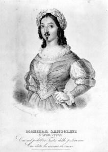 Dionilla Santolini - Litografia Macerata 1843