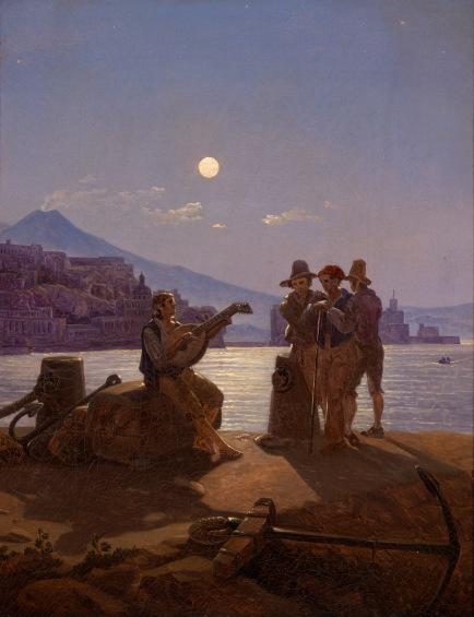 Carl Gustav Carus - Pescatori nel porto di Napoli - 1828-29